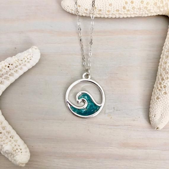 Gift For Her Silver Statement Wave Necklace |PazCreationsJewelry| Electroform Necklace 925 Silver necklace Wave Pendant