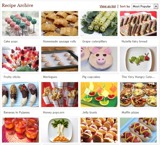 Cool party food ideas