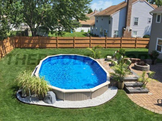 Best 25 above ground pool landscaping ideas on pinterest for Pool deck landscaping
