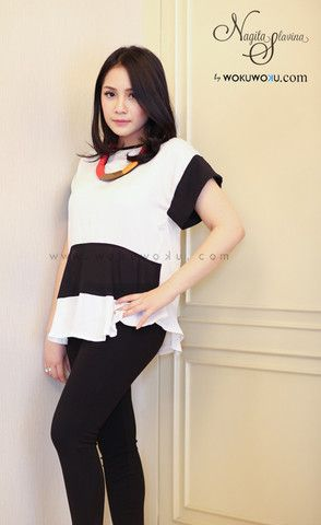 Fashion Velvet Bw Top by Nagita Slavina available now on www.wokuwoku.com