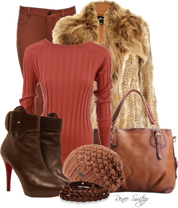 """""""Brown skinny jeans"""" by renee-switzer on Polyvore"""