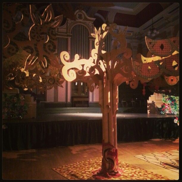Kidderminster Art Festival 2013.  Carpet forest in the Town Hall.