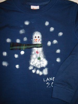 Snowman Footprint T-Shirts | | Blissfully DomesticBlissfully Domestic