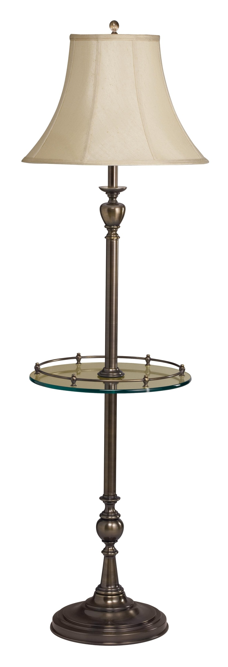 Floor lamp with tray table - New Traditions Patina Brass Tray Table Floor Lamp