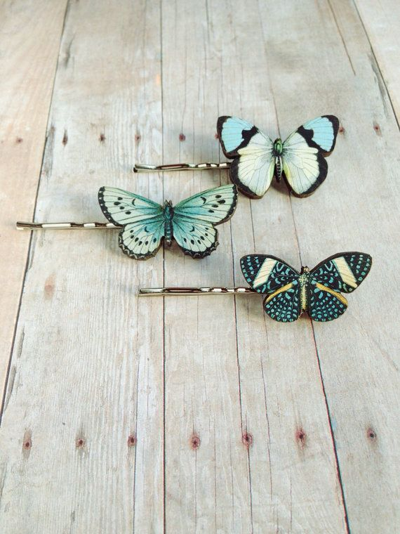 Blue Butterfly Hair Accessory by CircaAD on Etsy, $10.00