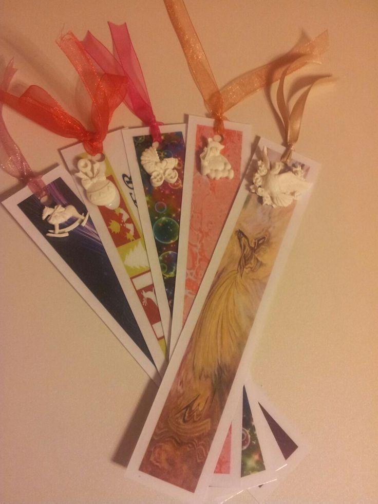 kokulu taş ile kitap ayraçları.. bookmarks ;)