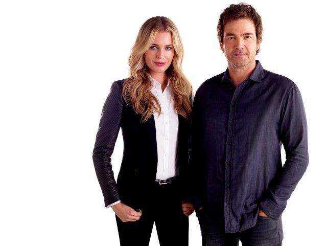 Rebecca Romijn and Jon Tenney - in King & Maxwell guests on The Talk show 7-29-13