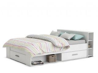 Maxmeubels Twijfelaar bed Pocket wit (140 x 200)