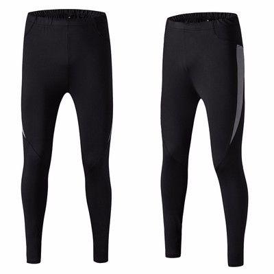 Men Black Elastic Pants Bodybuilding Skinny Leggings Trousers Spliced Polyester Skinny Sweatpants For Men Compression Pants