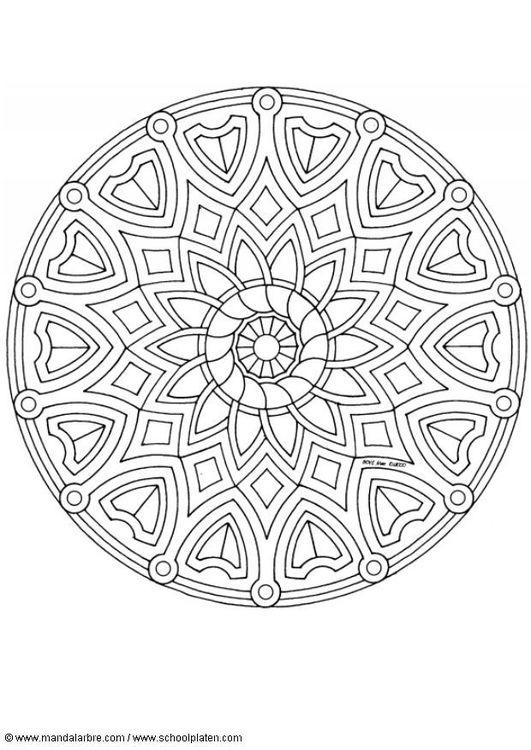 Dibujo para colorear Mandala A1