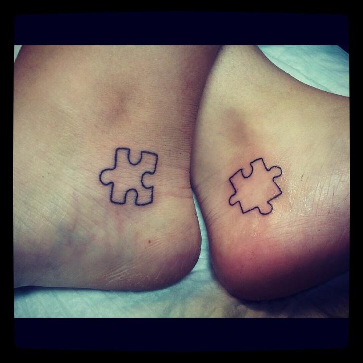 BFF Puzzle Piece Tattoos.