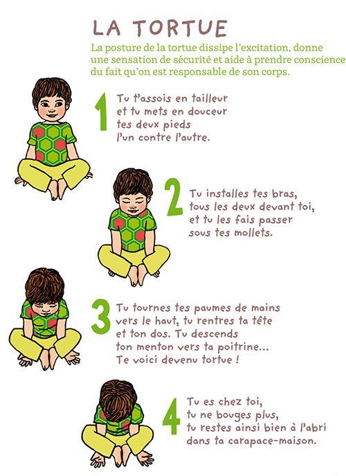 Le petit yoga : La tortue