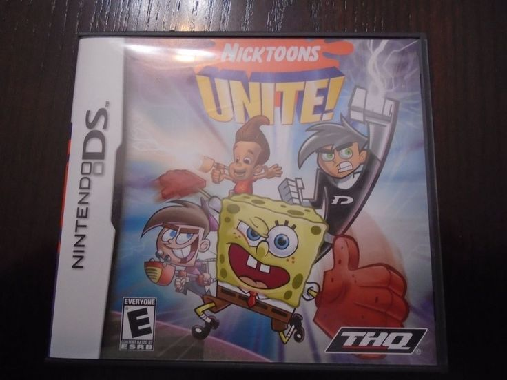 Nintendo DS Nicktoons UNITE! Complete box, booklet, game near mint Tested