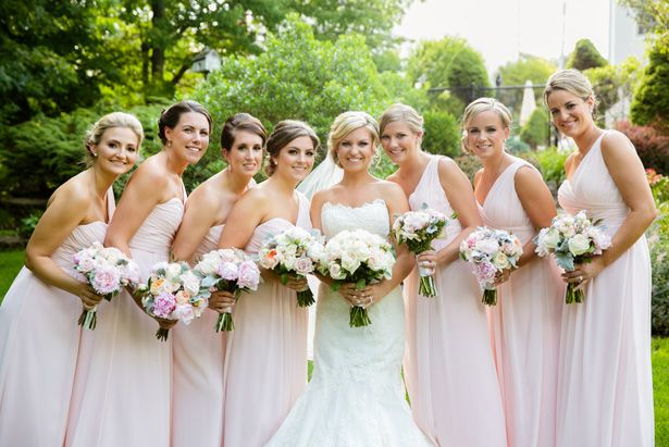 Light pink bridesmaid dresses - Candace Jeffery Photography