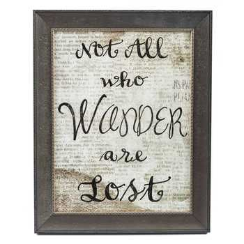Get Not All Who Wander Are Lost Framed Wall Art online or find other Wall Art products from HobbyLobby.com