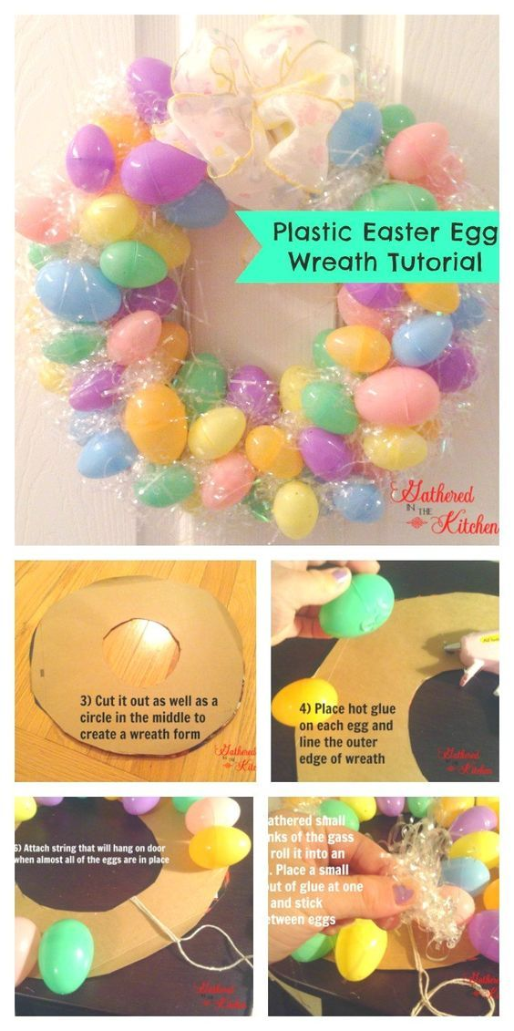 The Ultimate Pinterest Party, Week 188 | DIY Plastic Easter Egg Wreath Tutorial for under $3