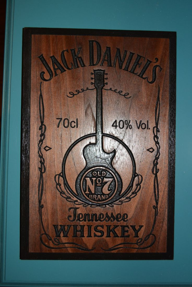 Jack Daniels sign carve in Walnut Wood American Made Home Made by NuLookwoodworking on Etsy