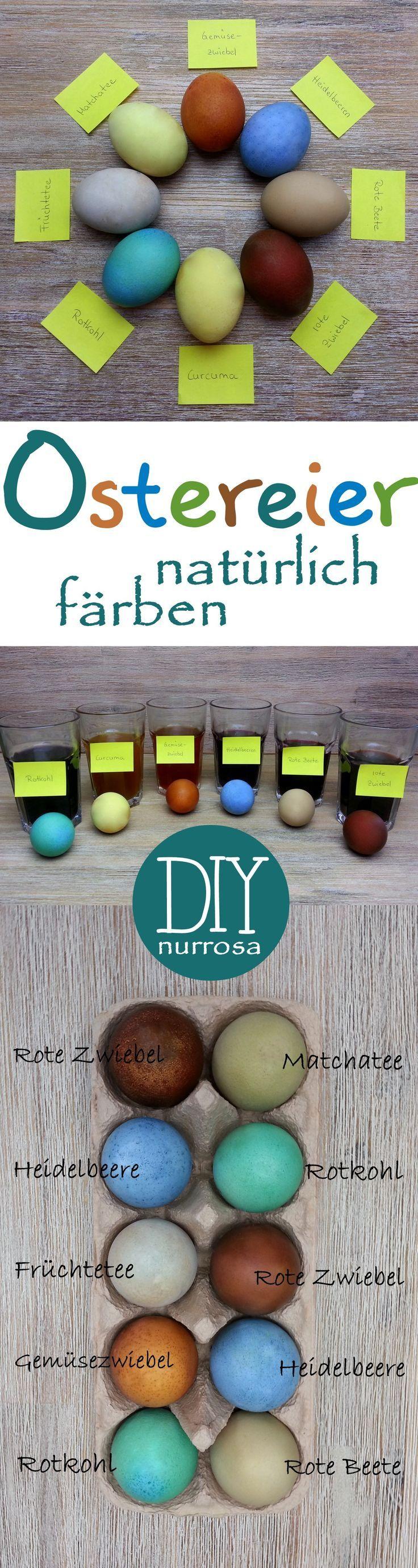DIY – Ostereier mit Naturfarbe selber färben Wenn ich gewusst hätte wie einfach man Eier mit selbst gemachter Naturfarbe färben kann, hätte ich das ja schon viel früher ausprobiert. Und wir h…