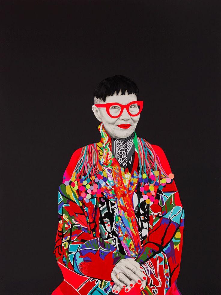 Jenny Kee by Carla Fletcher - 2015 Archibald Prize finalist