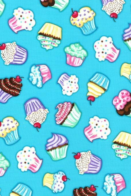 Novelty Quilt Fabric- Cupcakes With Sprinkles