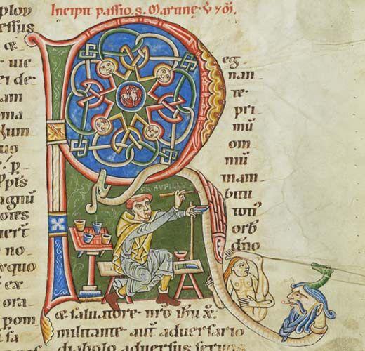 Passionaire de Weissenau, Allemagne, XIIe siècle