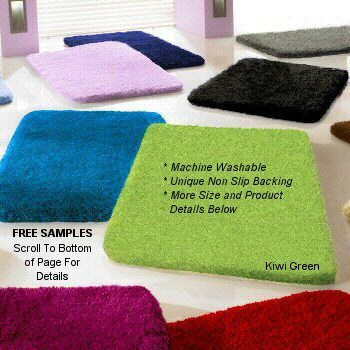 Plush And Thick Machine Washable Bathroom Rug In Over 20 Colors Also Custom Sizes