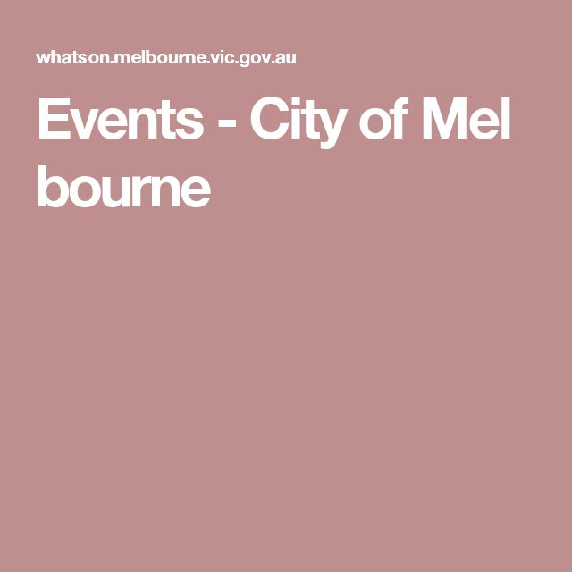 Events-CityofMelbourne