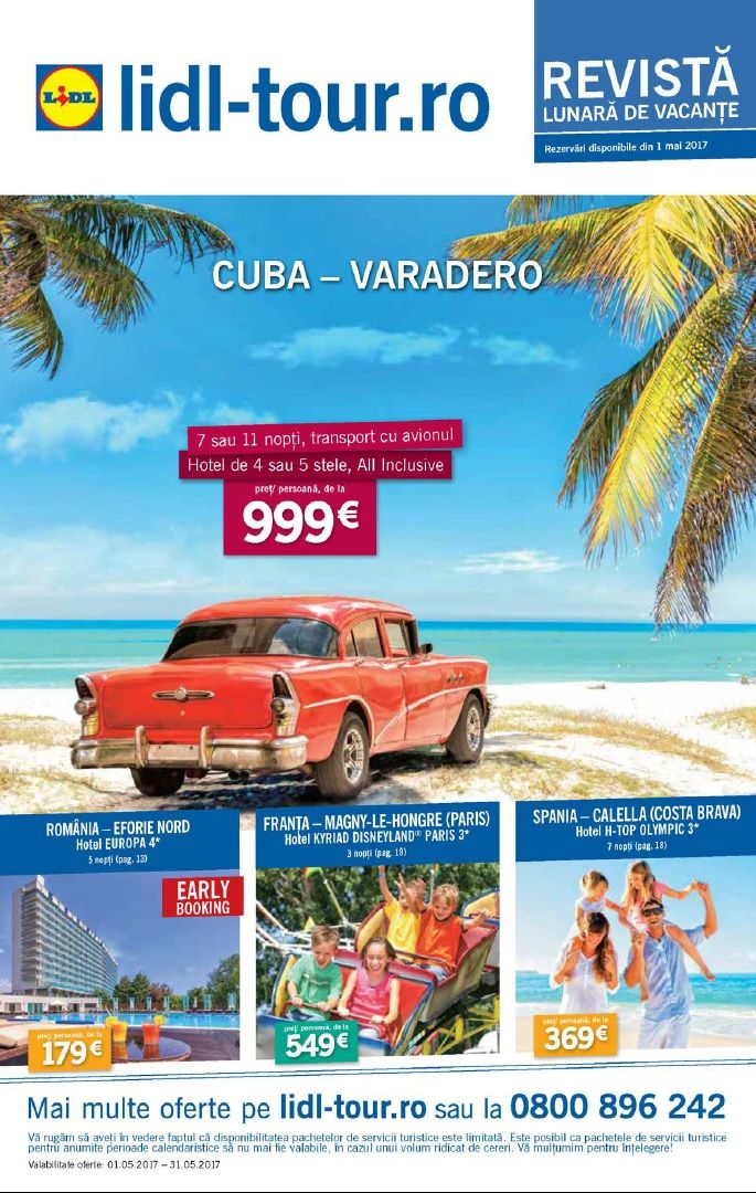 Catalog Lidl Tour Oferte Mai 2017! Oferte: circuit Spania & Portugalia, 7 nopti, transport cu avionul, hoteluri de 3 stele, cu mic dejun inclus