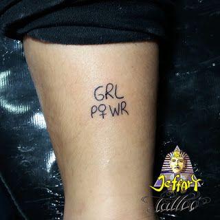 Jeffart Tattoo Studio - Tatuagens exclusivas, personalizadas com o maior profissionalismo.: Grl PWR Tattoo