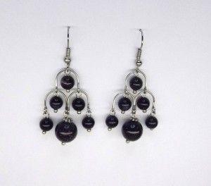 Goldstone Chandelier Earrings
