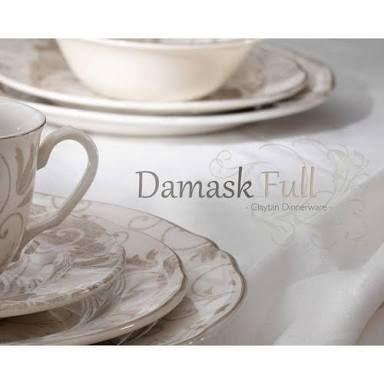 www.zanui.com Claytan Damask Dinner Set in Cloud