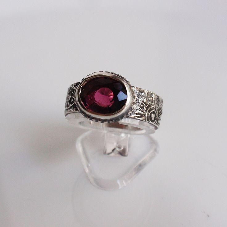 """Кольцо """"Легенда"""" с турмалином - турмалин, розовый турмалин, рубеллит, турмалин в серебре, серебро ручной работы"""
