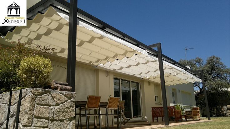 pergola de hierro con toldo pergolas pinterest pergolas porch and patios