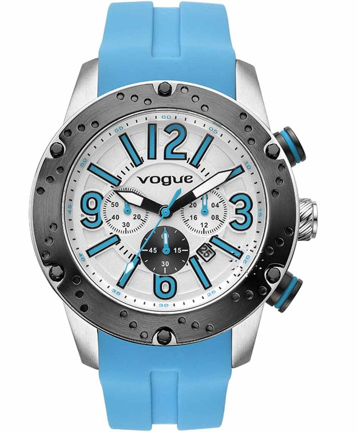 VOGUE Spirit Chrono Blue Rubber Strap  Τιμή: 235€  Αγοράστε το εδώ: http://www.oroloi.gr/product_info.php?products_id=31622