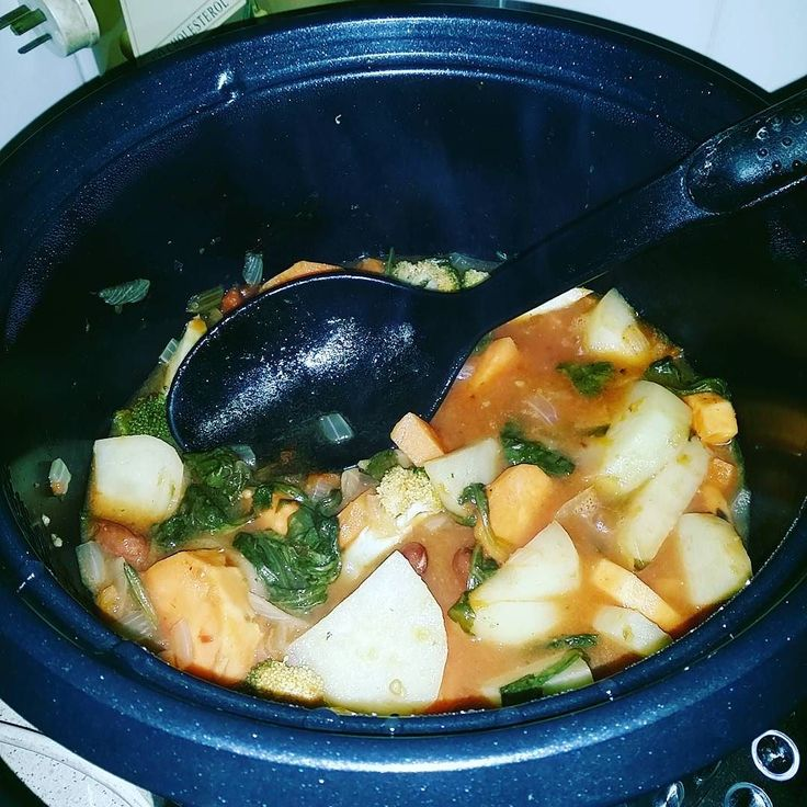 Cooking.. its been a long time since i did this.. . . . . #veggies #slowcooker #dinner