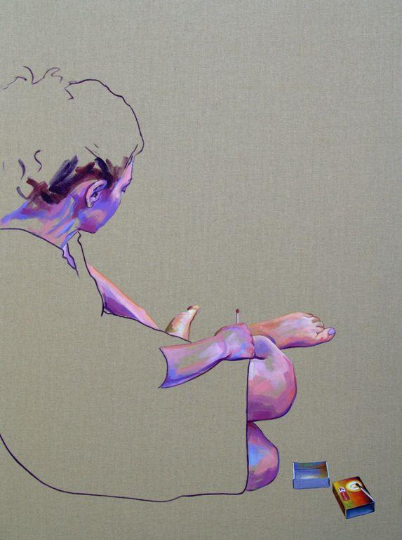 "Saatchi Online Artist: Cristina Troufa; Acrylic, 2012, Painting """"A paixão tem um fado #2"" (passion have a destiny) SOLD"""