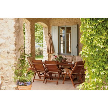Peru 8 Seater Extending Garden Furniture Set With Reclining Chairs At Homebase Be Inspired