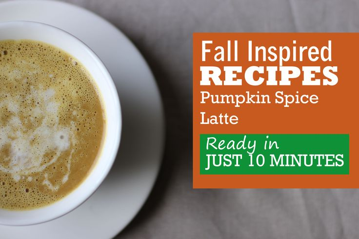 10-Minute Pumpkin Spice Latte with Coconut Cream http://www.truebeautyyou.com/10-minute-pumpkin-spice-latte-with-coconut-cream/