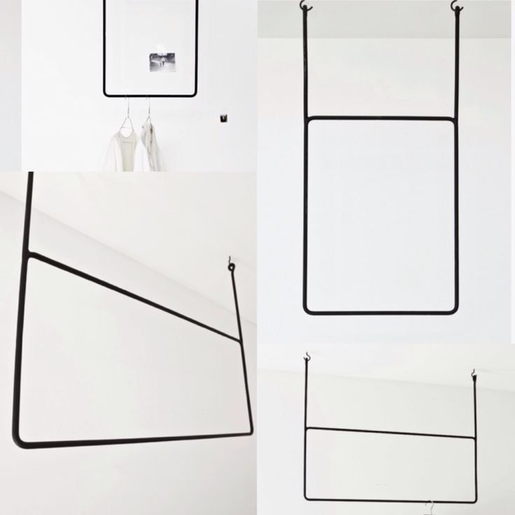 Garderobestang fra Anna Leena, pris ca. 1700 kr. for bredde 45 cm og ca. 2100 kr. for bredde 100 cm. Begge 80 cm høje.