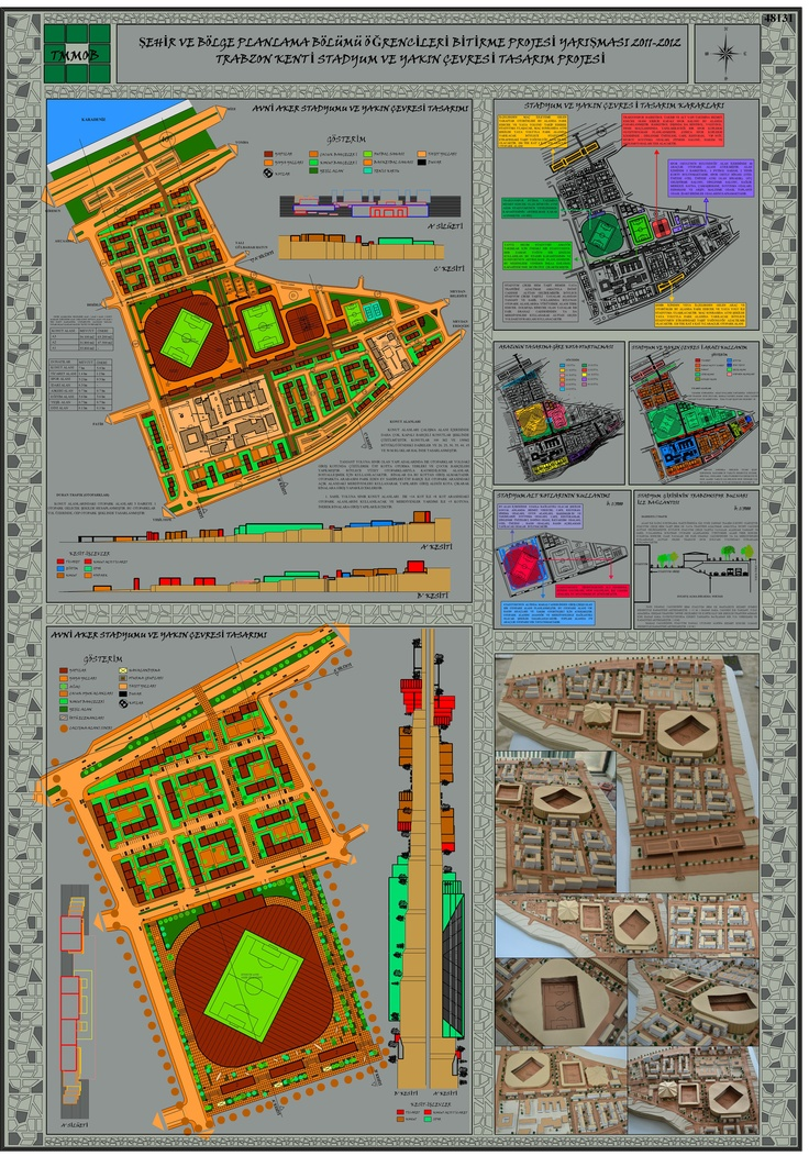 Şehir ve Bölge Planlama Bölümü Öğrencileri Bitirme Projesi Yarışması 2011- 2012 2 Nolu Pafta