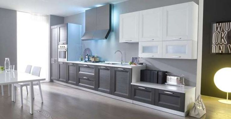 Cucina classica in due colori - Cucine bicolore classiche grigie e bianche.