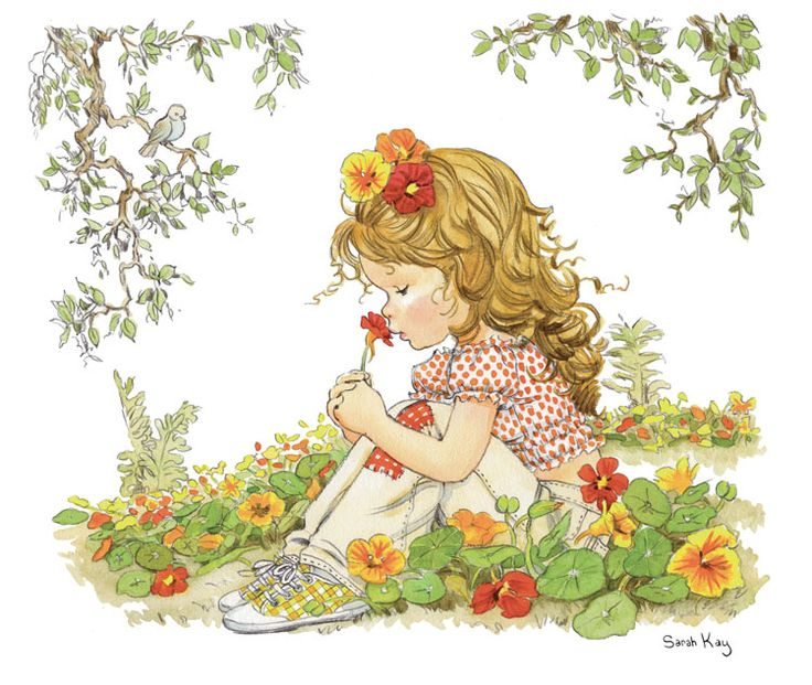 Juliet in the field of Nasturtiums ~ Sarah Kay