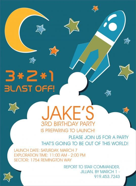 33 best lukes rocket shipspace 3rd birthday images on pinterest rocket launch birthday invitations by invitation duck filmwisefo