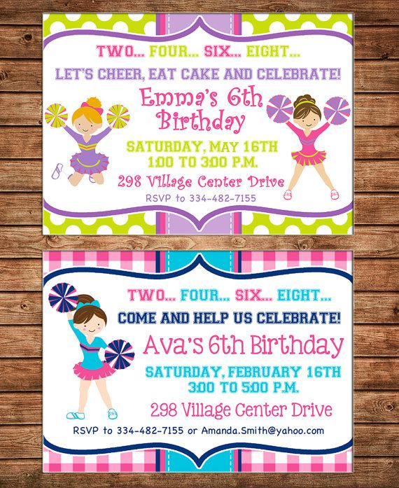 25 best images about Invitations – Cheerleading Party Invitations