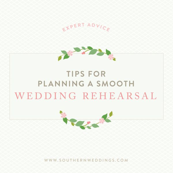 how to plan your wedding rehearsal