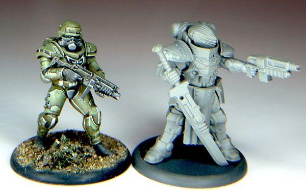 Test print of an Assault Trooper