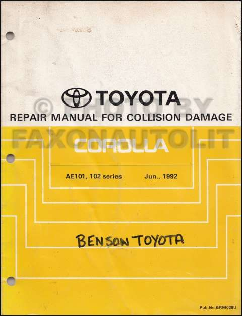 1992 Toyota Corolla Electrical Wiring Diagram and - Toyota ...