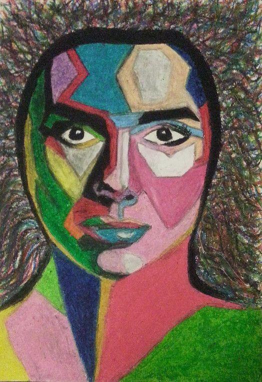 Pop Art in Pastel of Woman