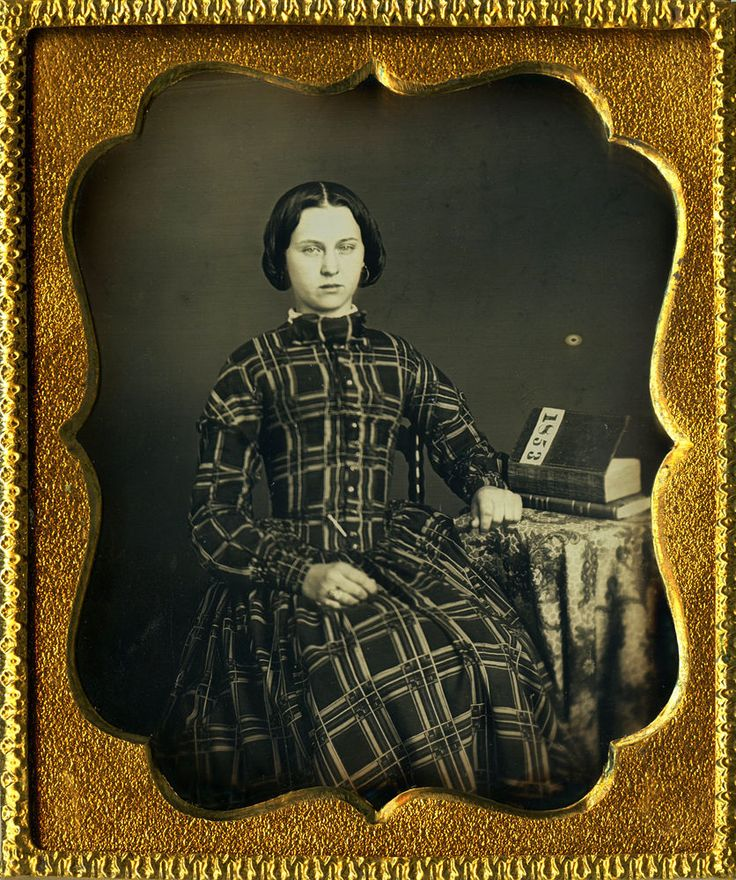 Exquisite 1853 Daguerreotype of a Gorgeous Lady in a Fabulous Dress Dated Book ! in Collectibles, Photographic Images, Vintage & Antique (Pre-1940)   eBay