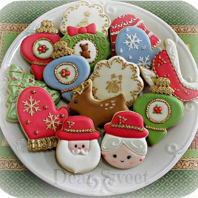 """""""Cookies of Christmas 2013. O Natal ja está aqui! Amo demais! É uma das datas mais lindas do ano!! Não vejo a hora de começar a assar os cookies! Foto: Cookies do Natal 2013."""""""